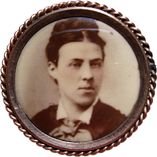 1920s Celluloid Photo pin identified 12k frame