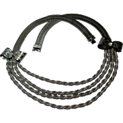 Modernist Mid Century Machine Age Deco Necklace Bengel