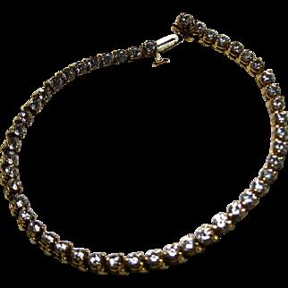 Estate 14k CZ Line Tennis Bracelet