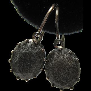 antique Georgian Gold Silver Stone Earrings