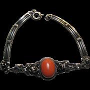 Nouveau Silver Coral Bracelet WL 900 mark