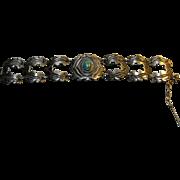Taxco Mexico 980 Silver RAFAEL MELENDEZ  Turquoise Bracelet