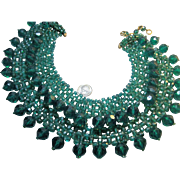 1960s vintage COPPOLA e TOPPO Emerald Green Necklace Made in Italy