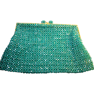 1960s vintage Coppola e Toppo glass crystal bead Purse