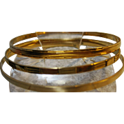 Three 18k gold Estate Bangle Bracelets