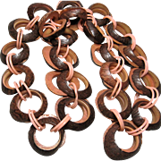 1930s vintage novelty Celluloid and carved Nut necklace