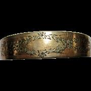 Edwardian rose gold filled hinged Bangle Bracelet star mark