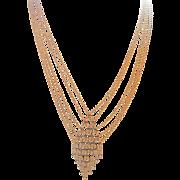 14k Michael Anthony Bib Gypsy Necklace