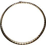 """14k yellow and rose Gold Omega choker Necklace 17"""""""