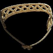 estate 14kt gold Infinity bead Bracelet toggle catch