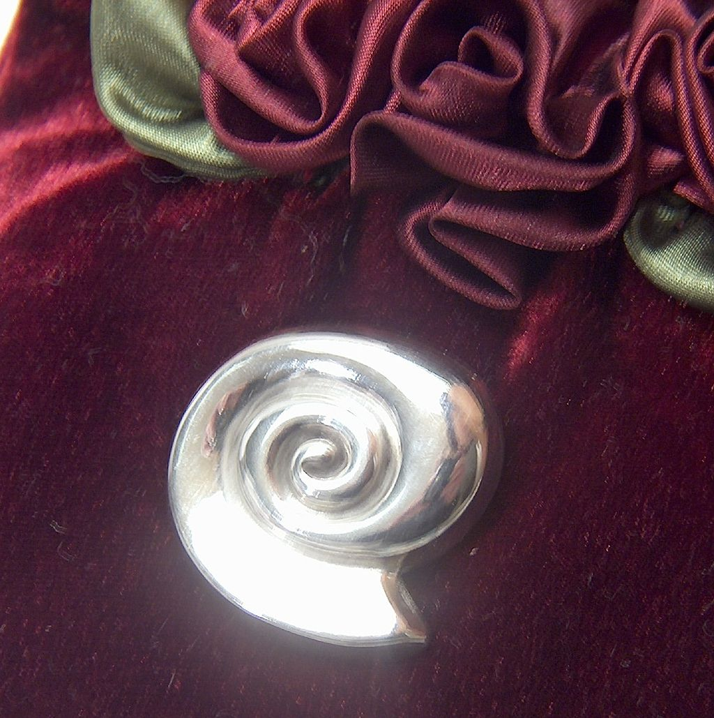 Vintage signed Taxco Mexico Sterling Silver Sea Shell Pin Brooch