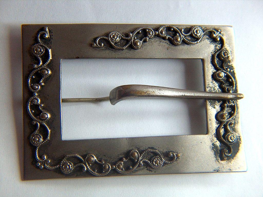 Vintage Edwardian Silver Plated Brass Sash Pin