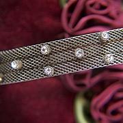 Vintage Mesh Cuff Bracelet ~ Rhinestones