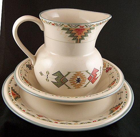 Vintage Studio Nova Timberline Serving Pieces - Large Pitcher, Vegetable Bowl, Chop Plate