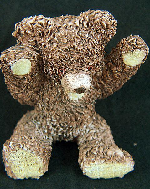 Vintage signed Peter Fagan Benji Bear Figurine - dated 1992