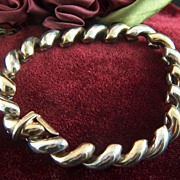 Vintage Sterling Silver Italy Link Bracelet - Italy 925
