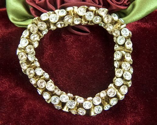 Vintage and Gorgeous Rhinestone Cloth Elastic Stretch Bracelet
