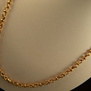 "Vintage signed Monet 24 1/2"" Gorgeous Links Gold Toned Chain Necklace"