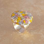 Pastel & Silver Ring
