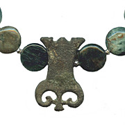 LARAGNE-  Bronze Fibula & Apatite Necklace
