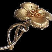 Vintage Bond Boyd GF Sterling Figural Flower Brooch.