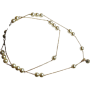 KJL Gold-plated Chain Faux Pearls RS Closure