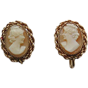 Rolyn Inc 1/20 12K Gold Filled Cameo Earrings 1962