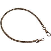 PW Ellis Gold Filled Pocket Watch Chain circa 1900