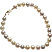 Kenneth Jay Lane 13mm Pastel Colours Faux Pearl Necklace