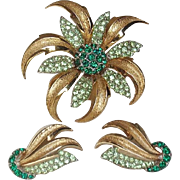 Marcel Boucher Floral Brooch and Earrings