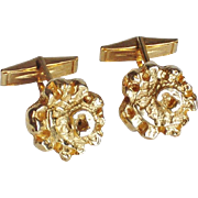 Robert Larin Modernist Gold-Plated Pewter Cufflinks