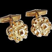Robert Larin Modernist Gold-Plated Pewter Cufflinks