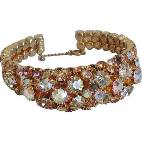 Triad AB Rhinestone Bangle Bracelet