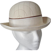 Cream Wool Felt Rolled Brim Hat -England