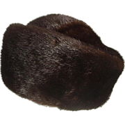 Hudson Bay Dark Brown Mink Hat