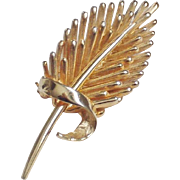 Marcel Boucher Polished Goldtone Brooch