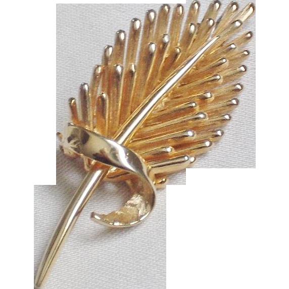 Marcel Boucher Polished Goldtone Brooch
