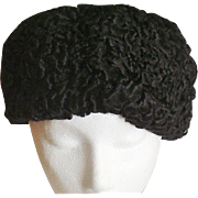 Vintage Black Persian Lamb Hat