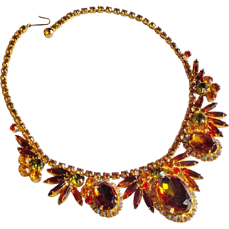 Vintage Juliana Green Heliotrope Book Piece Necklace