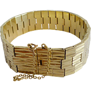 Vintage French Gold-plated Link Bracelet
