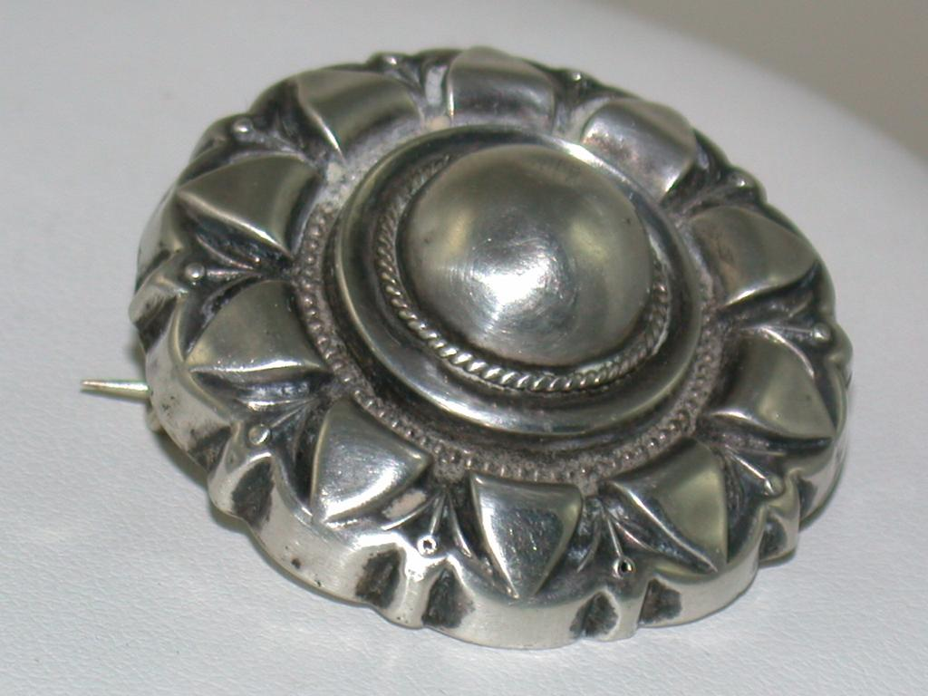 Victorian Sterling Circle Pin