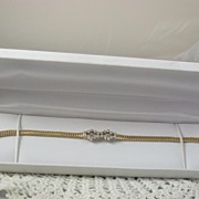 14K Gold .60CT Diamond Bracelet