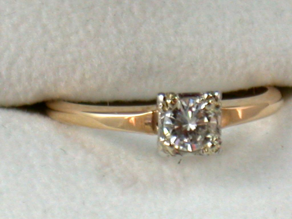 Estate 14K .40CT Diamond Solitaire
