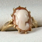 Vintage 14K Cameo Ring