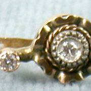 Circa 1900 18K French .26CT TW Earrings