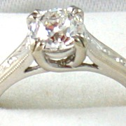 Estate 14KW  .85CT Old European Cut Diamond