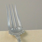 Large Whiting Louis XV Meat Fork