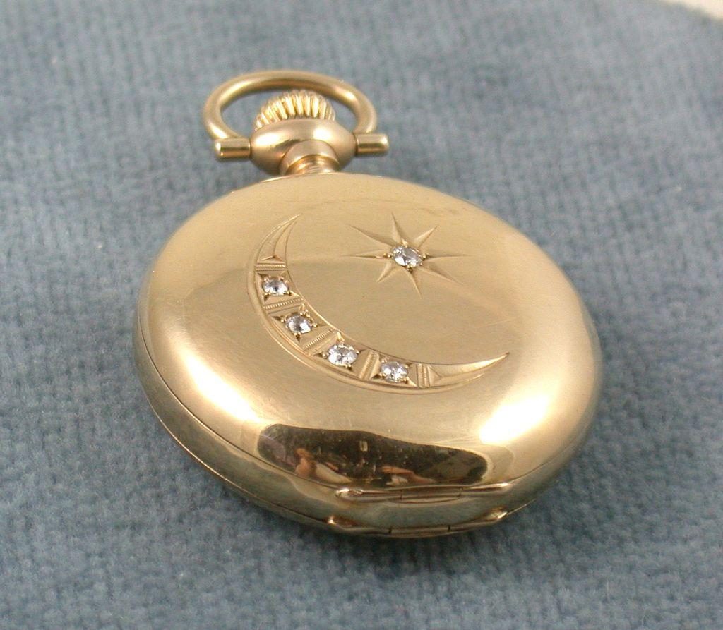 1890's Five Diamond Pocket Watch
