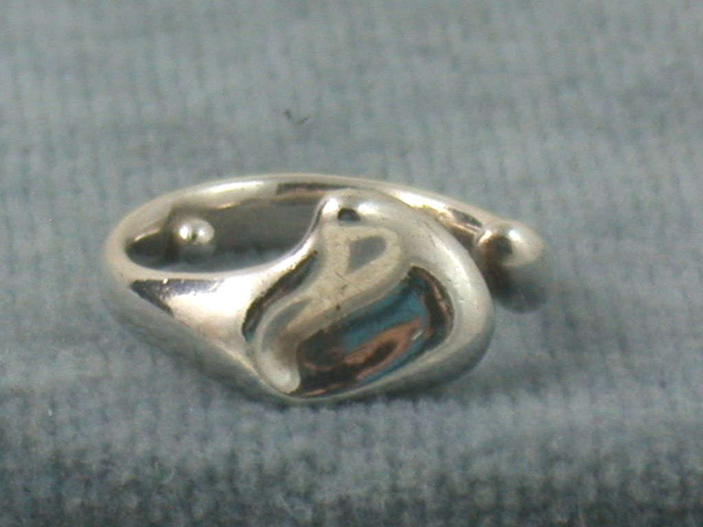 Estate Sterling Silver Tiffany Peretti Heart Ring