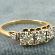 Estate 14K Jabel 0.70CT Five Diamond Ring